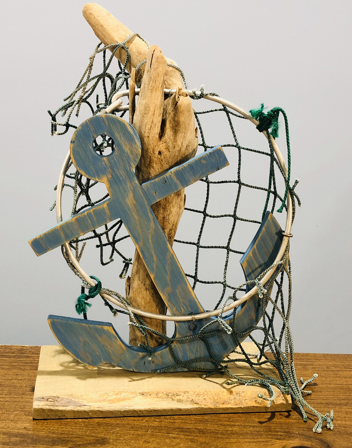 Jerry Walsh Large Anchor With Net