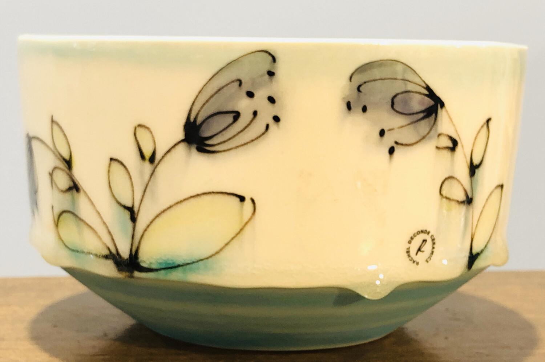 Mid-Modern Bowl Sm floral