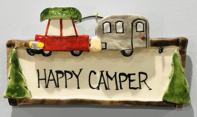 Clayton Dickson Lg Happy Camper Plaque