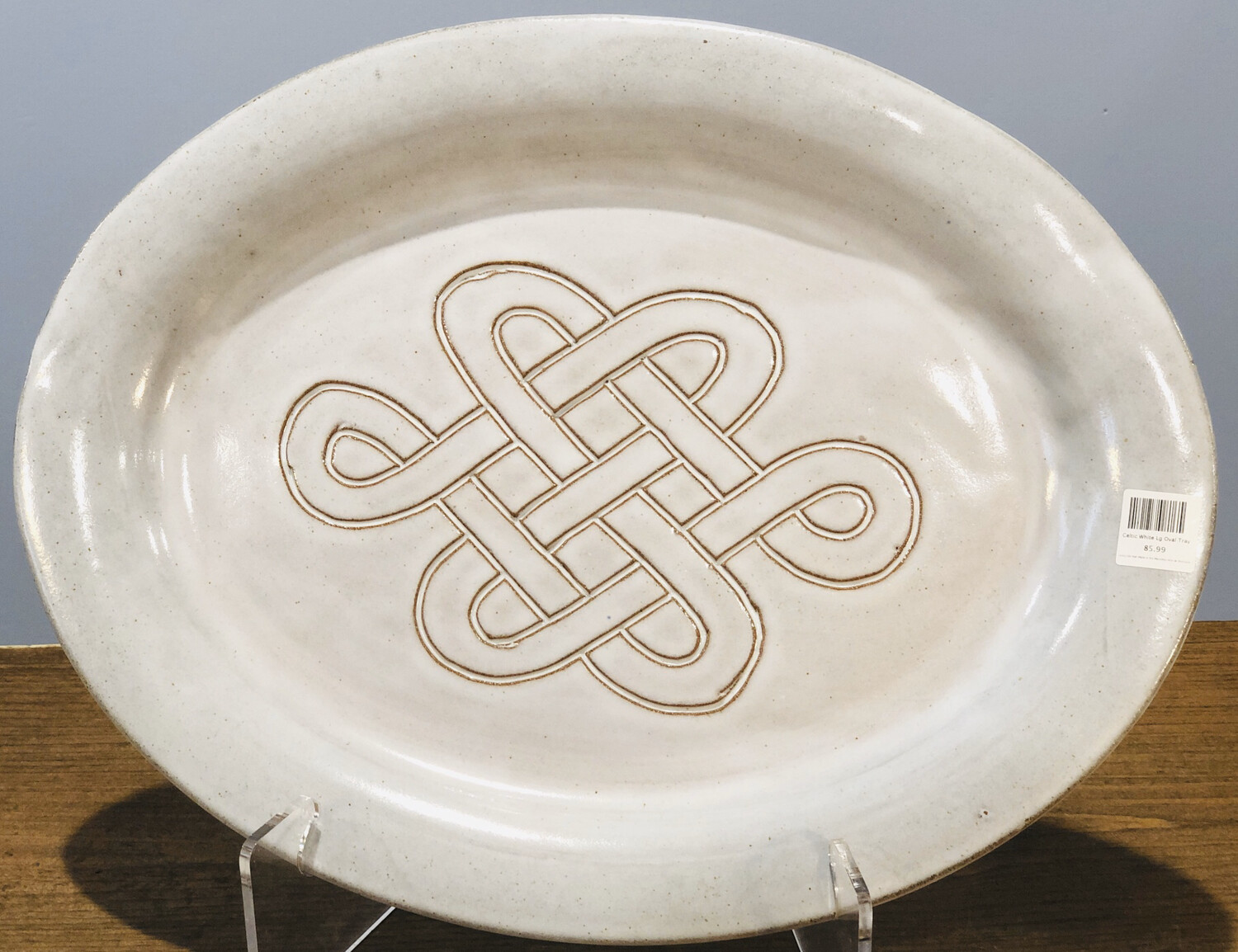 Celtic White Lg Oval Tray