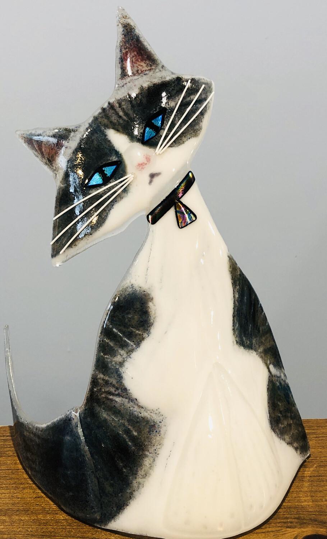 Kiln Art Glass Cat