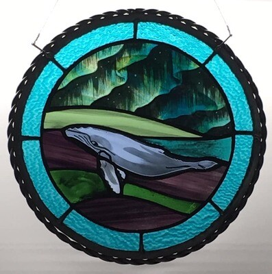 Whale Stained Glass