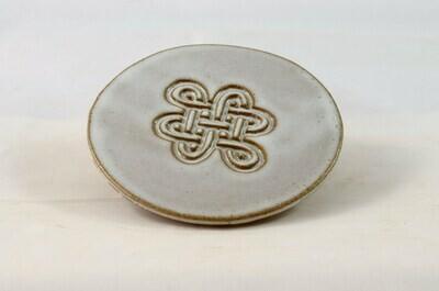 Island Stoneware Celtic White Coasters Set of Four