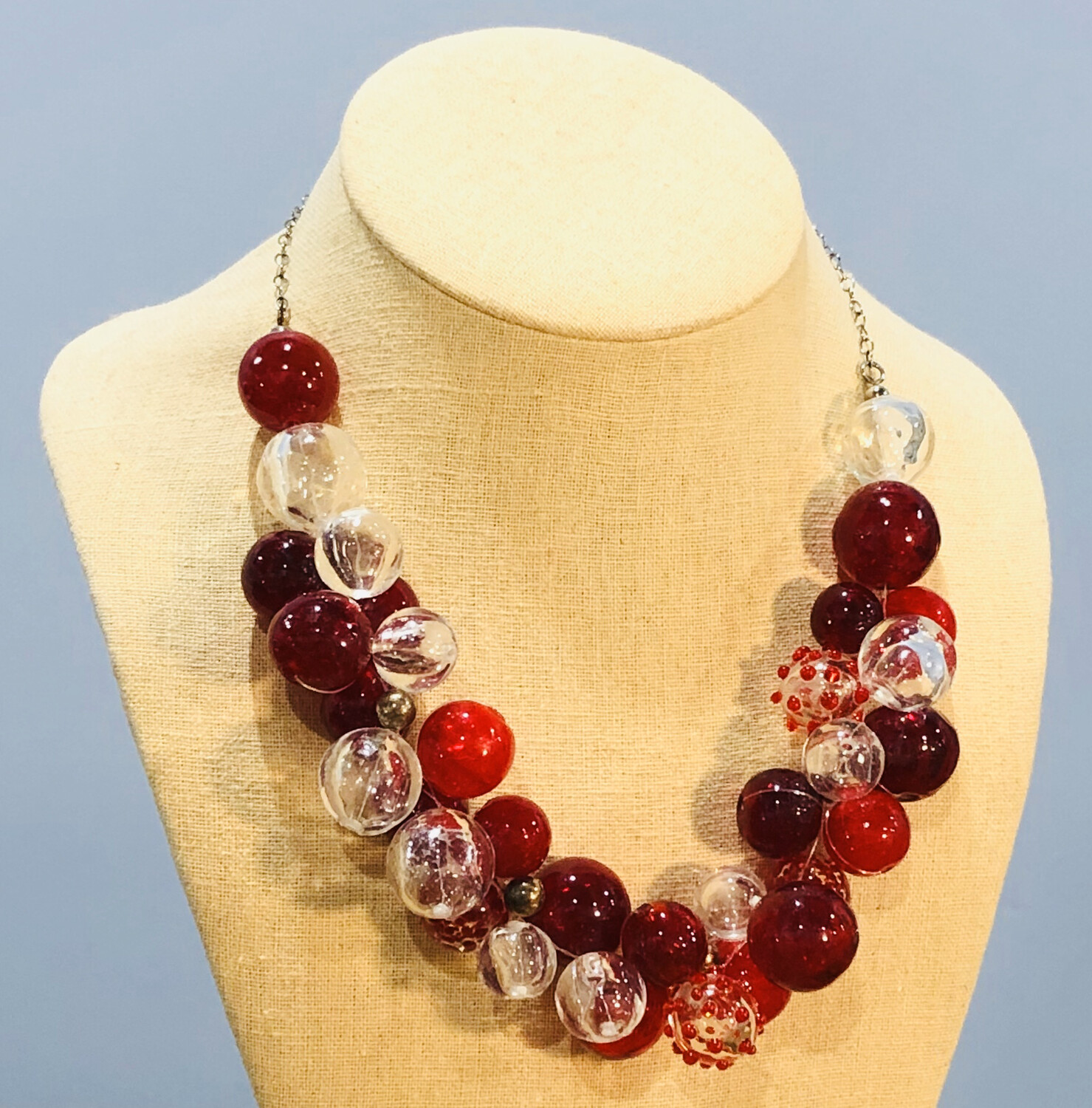 Red Cluster Necklace