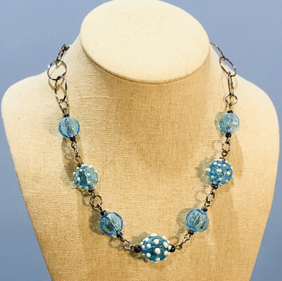 Aqua Hollow Necklace