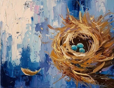 Nest Brilliant Blue 11x14