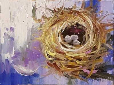 Nest Purple 9 x 12