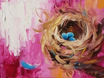 Nest Pink 9x12