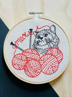 Hook Line & Tinker Embroidery Kit