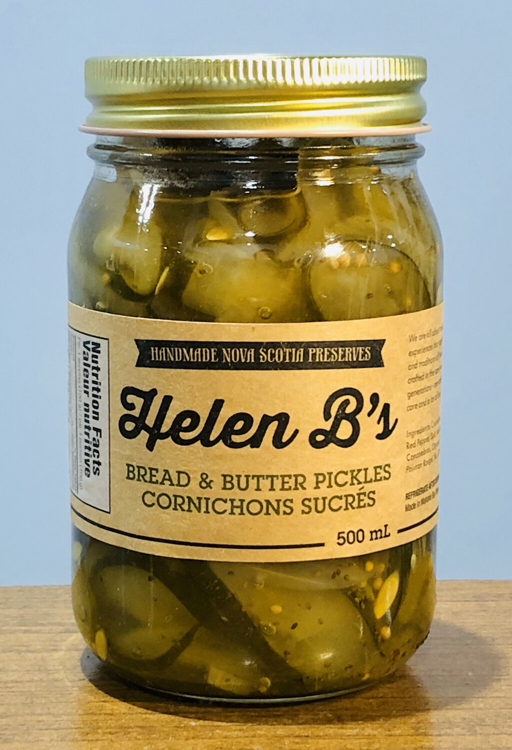 Helen B's Bread & Butter Pickles