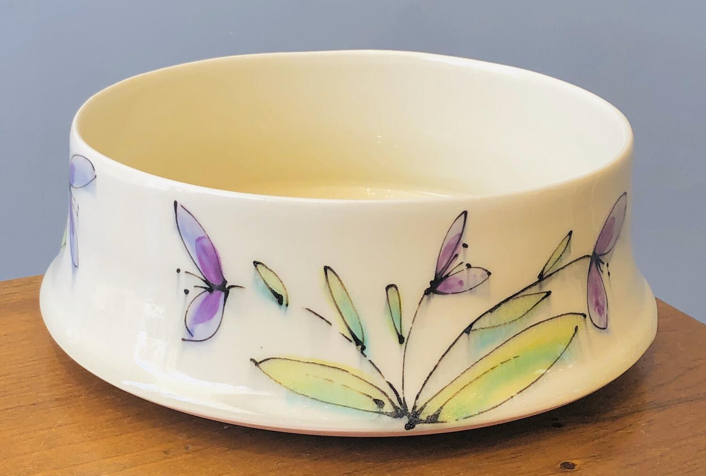 Mid-Modern Large Bowl Floral