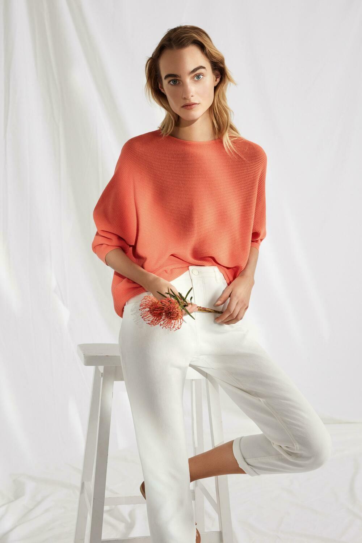 Pull coton mandarine Opus