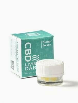 CBD LIVING Dabz Shatter - DURBAN POISON 500mg