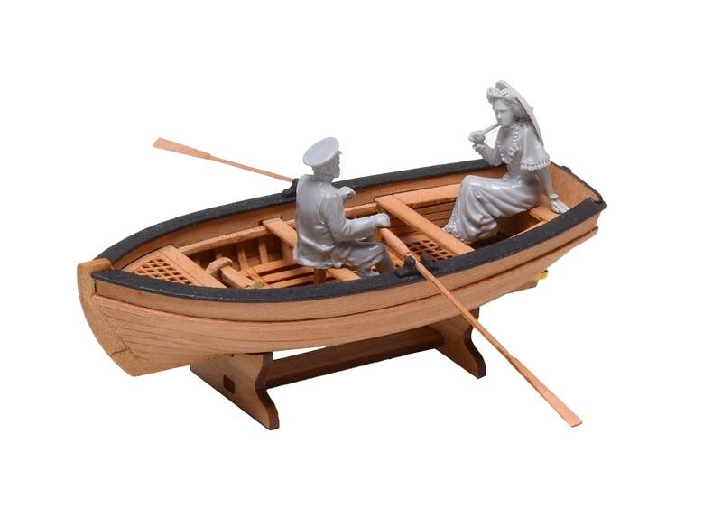 Jolly-boat (2-oar) 1:72 + Figurines