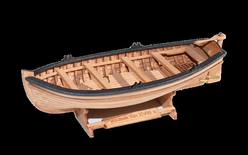 Jolly-boat (4-oar) 1:72 + Figurines