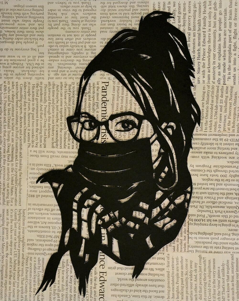 Papercut Self-Portrait in a Pandemic