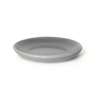 Тарелка (керамика) серый