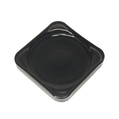 Тарелка-подставка (стекло) чераная