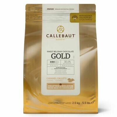 Callebaut Schokoladen-Callets Gold 2,5kg