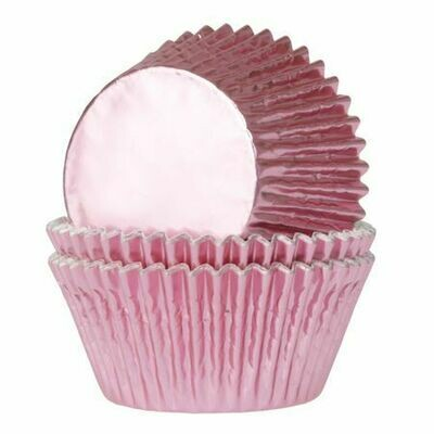 House of Marie Baking Cups Folie Babyrosa 24/Pkg