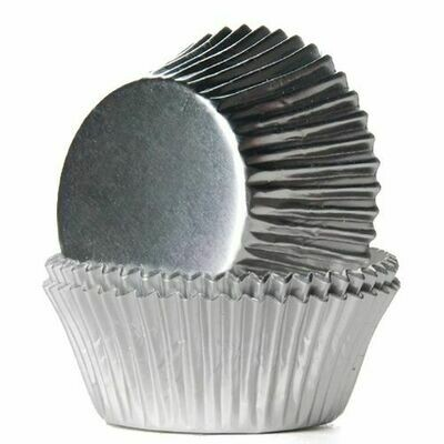 House of Marie Baking Cups Folie Silber 24/Pkg