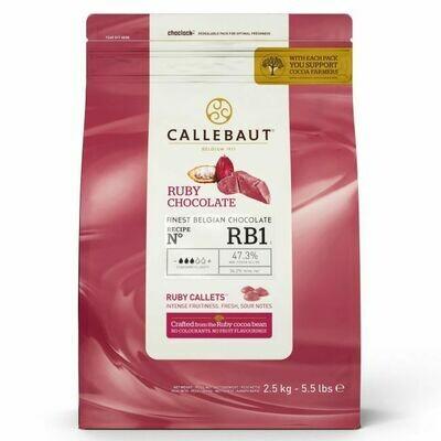 Callebaut Schokoladen-Callets Ruby 2,5kg