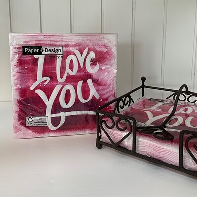 Lunchservietten: Pink love
