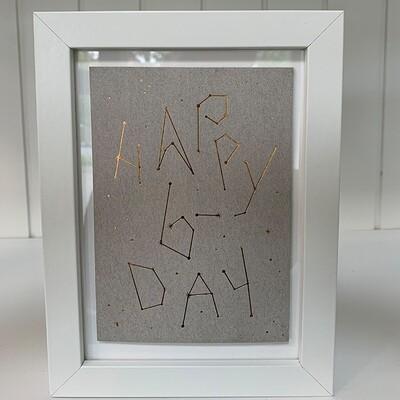 Einzelpostkarte: Happy B-Day