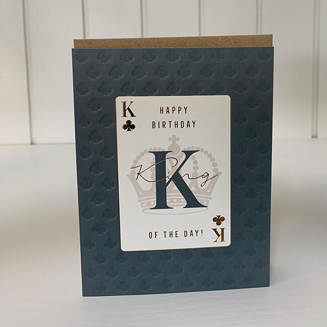 Doppelpostkarte: Happy birthday (King)