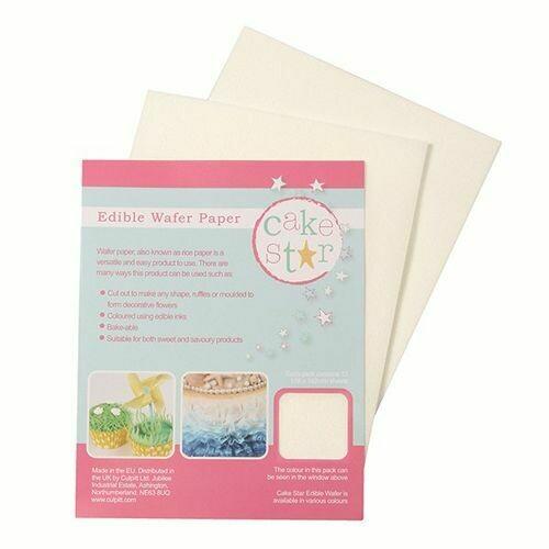 Cake Star Edible Wafer Paper -White- Pkg/12