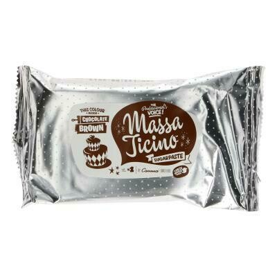 Massa Ticino Rollfondant - Braun - Chocolate Brown 250g