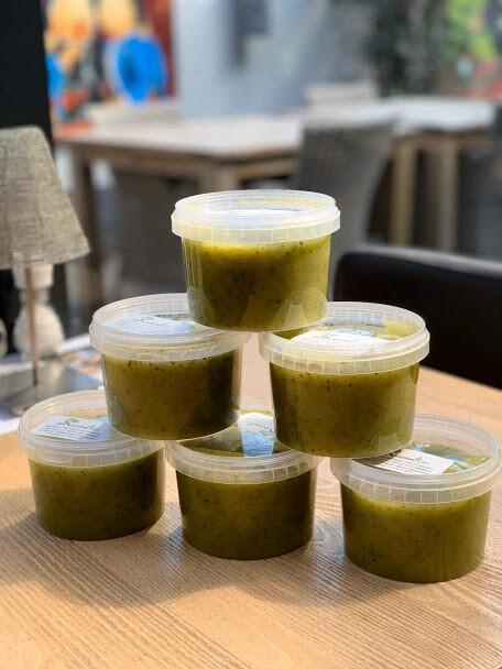 Courgette soep 1 pers 300 ml of 500 ml 2 pers  vegetarisch/lactose vrij