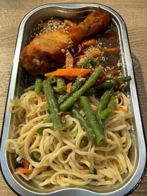 Indische kip met Chinese bami 500 gram