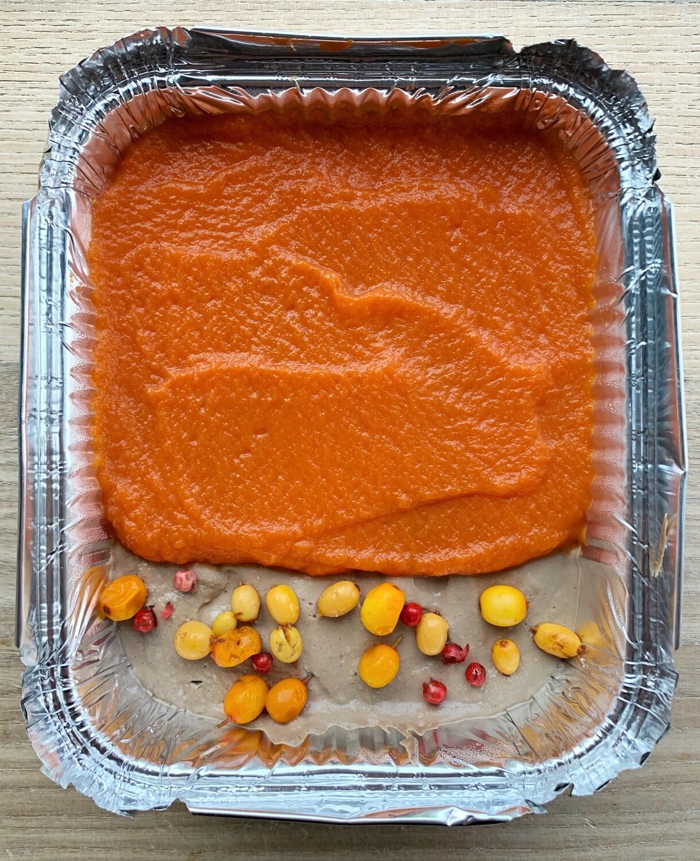 Паштет з курячої печінки з морквяним гелем/285г