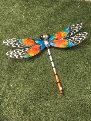 Metal Watercolour Effect Dragonfly