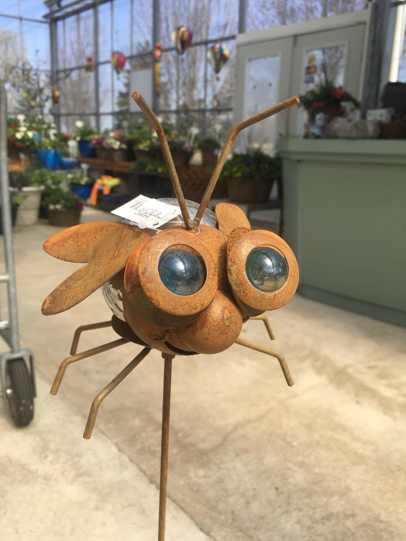 Mirrored Bug On Stake - Bee