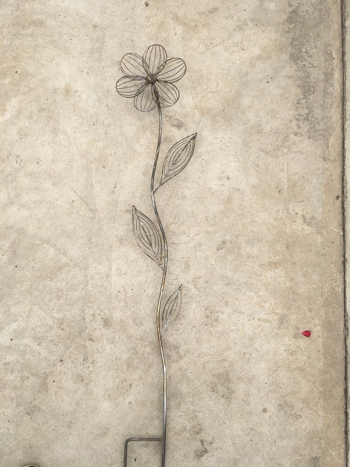 Metal Flower Stake - Chest High