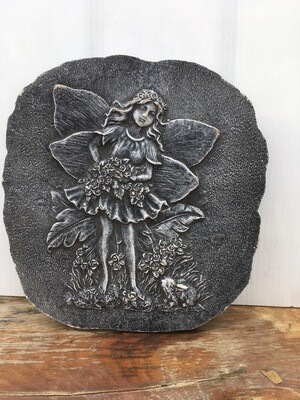 Garden Fairy Rock Carving Slab