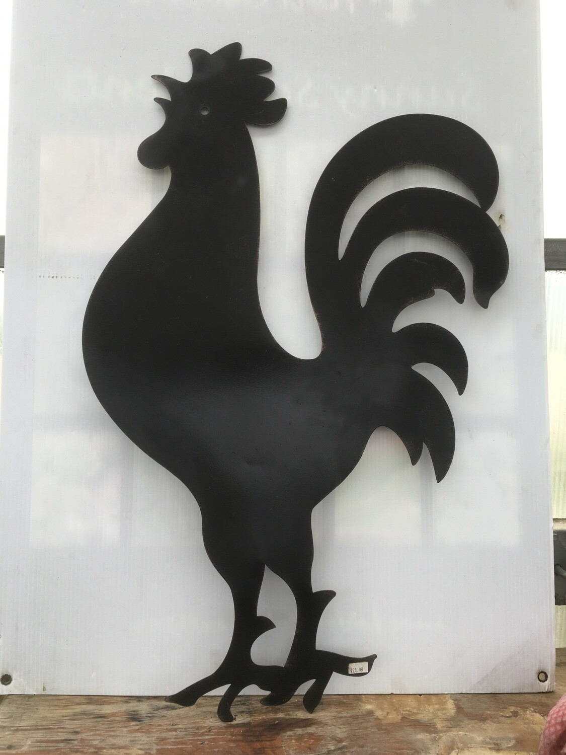 Large Metal Rooster Silhouette