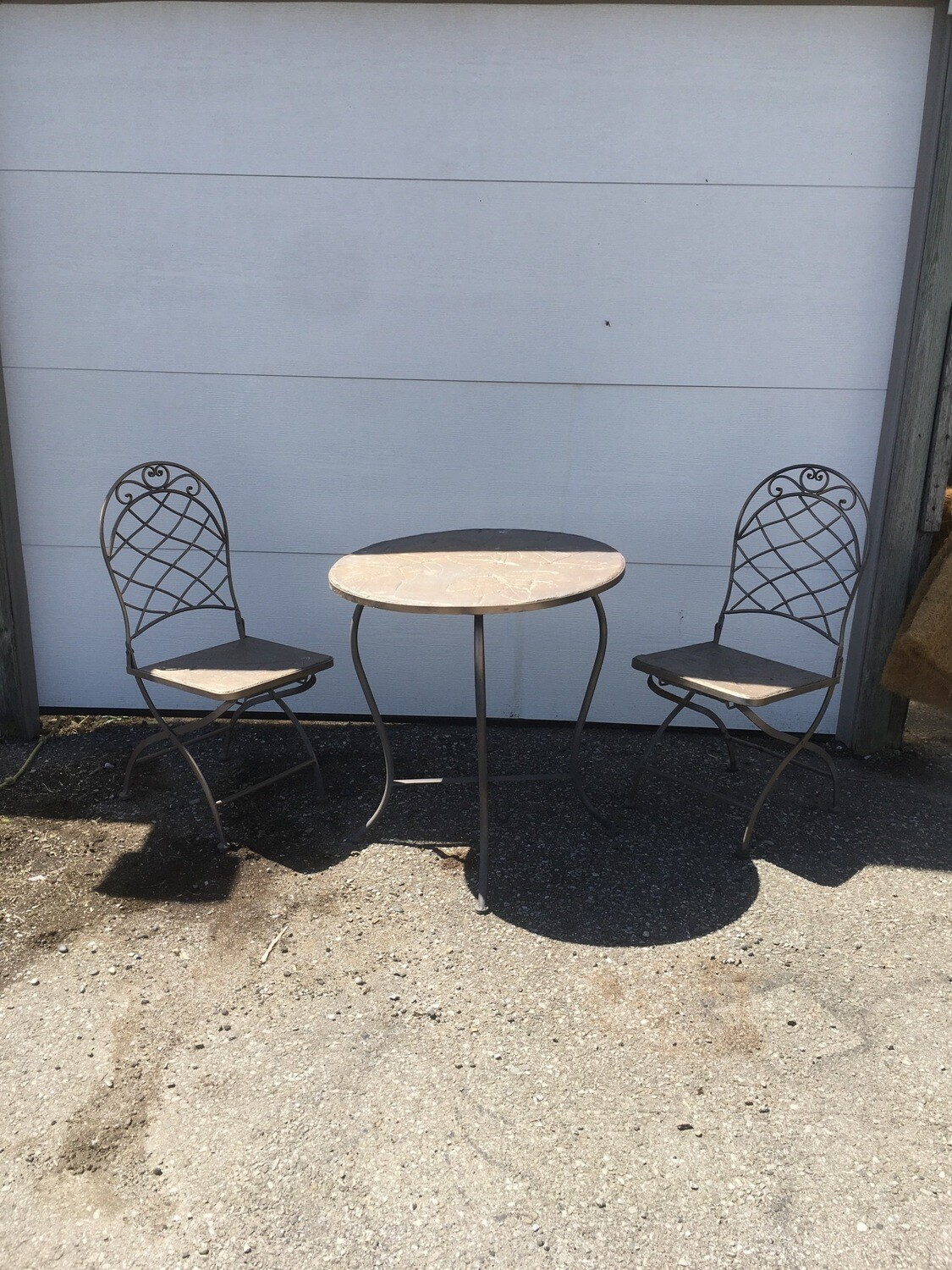 Bristro Chair And Table Set - As Is