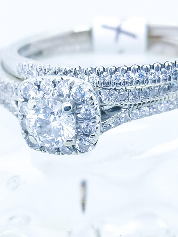 Vintage Diamond Wedding Set