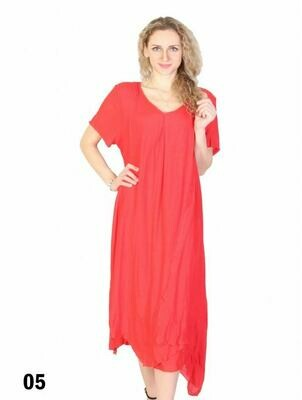 Layered Shift Dress (coral)