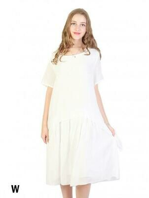 Layered Shift Dress (white)