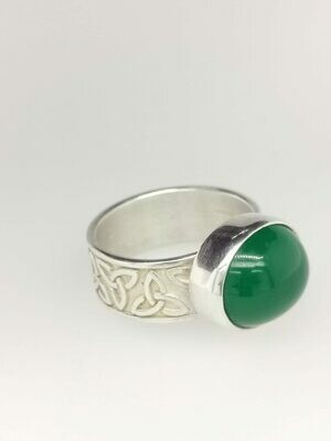 Handmade in Cape Breton Celtic Green Ring