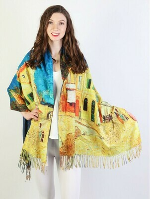 Painting Printed Scarf Shawl