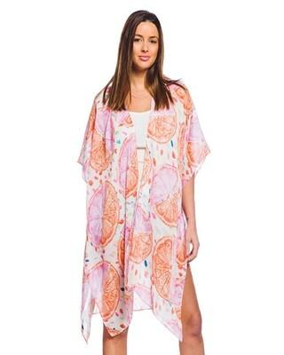 Fruit Print Kimono Shrug Cover