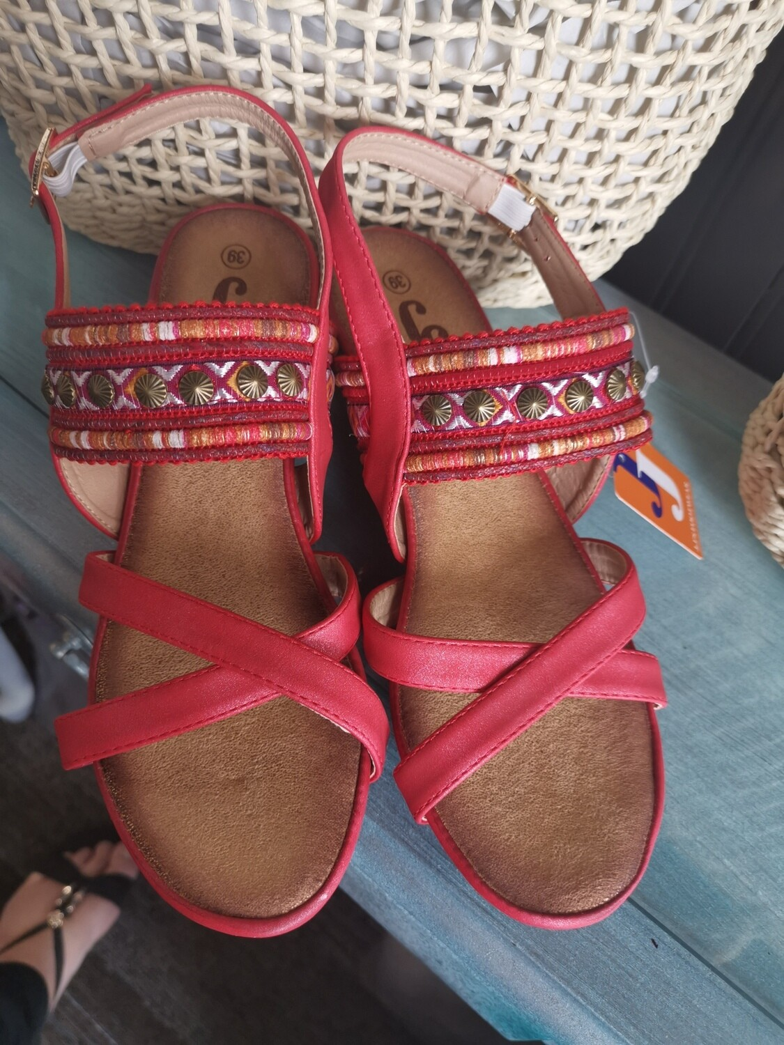 JJ Sandals Wedge with Bling