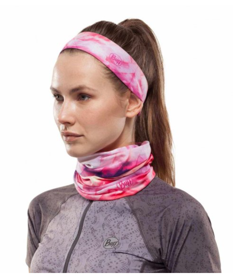 Coolnet UV Buff Neck Ray Rose Pink