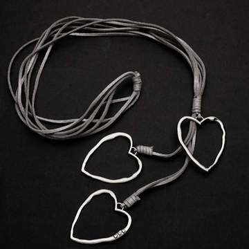 Triple Necklace with silver plate