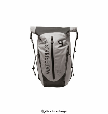 geckobrands Waterproof Paddler Backpack 30 L Grey
